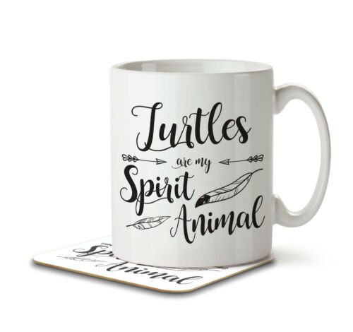 Turtles are my Spirit Animal Mug and Coaster by Inky Penguin