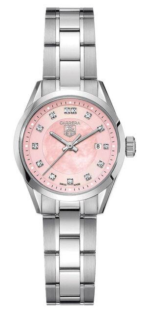 83279c9a39a4 Ladies Tag Heuer Carrera WV1417.BA0793 Pink Pearl Diamond Swiss Quartz Watch