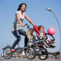 Baby Stroller 3 In 1 Bike Mother Folding Carrier Single&twin Two Seat Portable