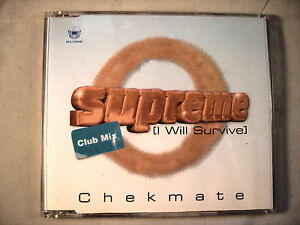 CD Single B4  Chekmate  Supreme  I will survive  CDKLONE77 - <span itemprop=availableAtOrFrom>Waterlooville, United Kingdom</span> - Returns accepted Most purchases from business sellers are protected by the Consumer Contract Regulations 2013 which give you the right to cancel the purchase within 14 days after th - Waterlooville, United Kingdom