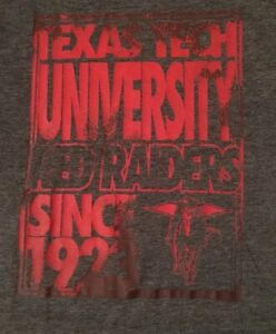 NCAA-TEXAS-TECH-RED-RAIDERS-SMALL-GRAY-DISTRESSED-GRAPHIC-T-SHIRT-FREE-SHIPPING