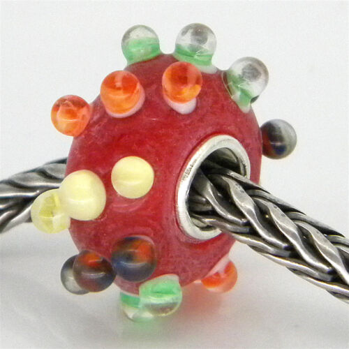 MURANO GLASS BEAD AUTHENTIC 925 STERLING SILVER FIT EUROPEAN CHARM BEADS 3060