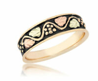 Black Hills Gold Ring Womens Whole/half Size 5 6 7 8 9 On 10k Yellow Gold