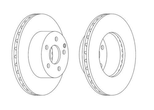 2x NEUF de la marque Ferodo frein avant Disc-DDF1668-garantie de 12 mois!