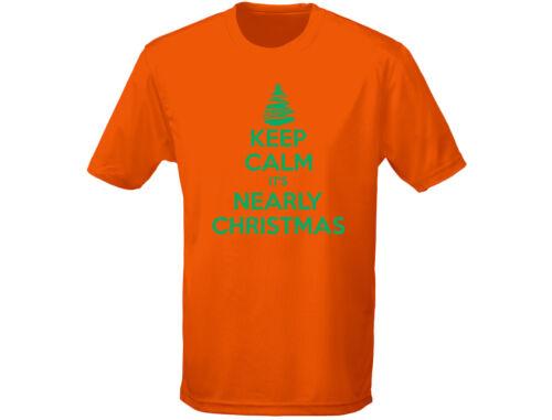 12 colori Keep Calm IT /'S QUASI Natale Bambini T-shirt unisex