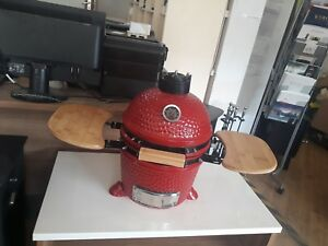 """Like Green Egg Brand New Rrp £519 Easy And Simple To Handle Outdoor Cooking & Eating Red Devil Kamado Ceramic Bbq Oven 12"""""""
