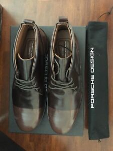 PORSCHE-DESING-SINGAPORE-BOOTS-BLKCFFBRSH-BROWN-Men-039-s-US-Size-11-495