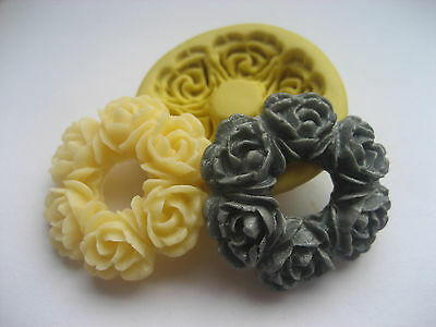 Flower Wreath Silicone Mold Fondant-Resin-crafts-Clay-Candy-Jewelry-Gumpaste