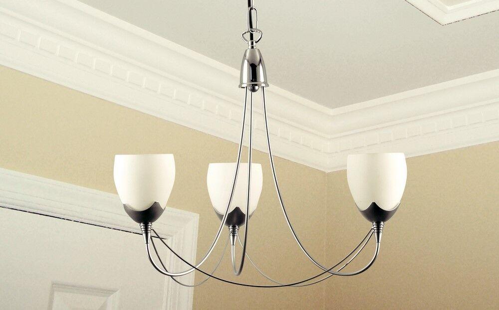 protezione post-vendita Lampadario classico classico classico 3 luci in metallo cromato e vetri coll. Dese 3712-3  il più alla moda