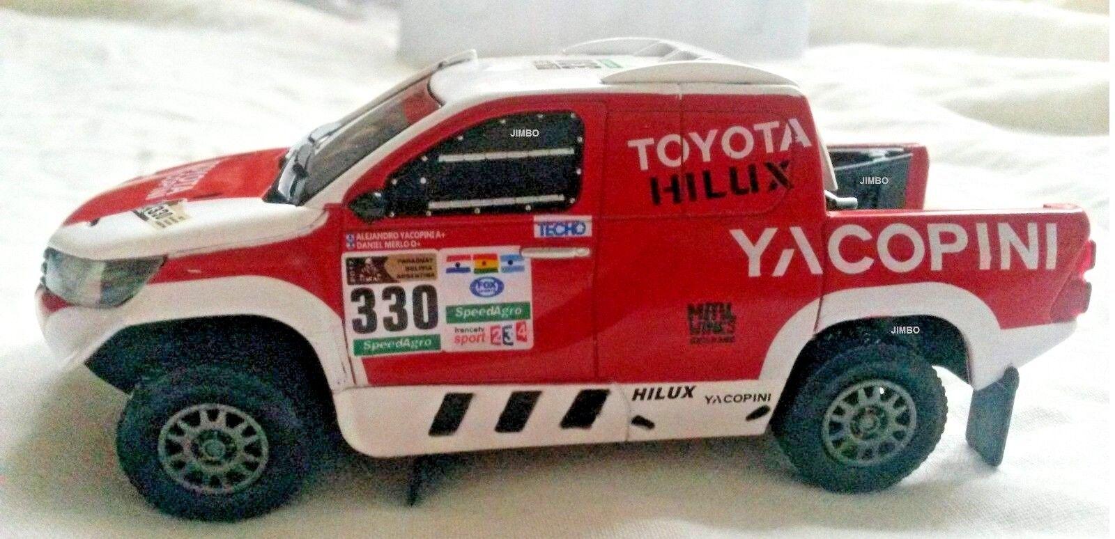 IXO-Jugueteota Hilux 1 43 Rally Dakar 2017  330 Diecast, METAL, Nuevo En Caja.