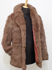 Ladies Genuine Coney Fur Jacket Size 12 M 36""