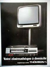 PUBLICITE-ADVERTISING :  THOMSON Magnétoscope couleur  1978 télévision