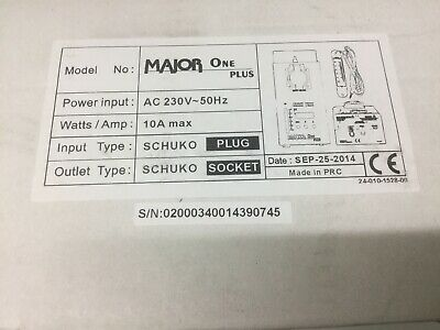 Analytisch Major One Plus Dimmer 230v/10a Dmx Neu In Ovp Tv, Video & Audio