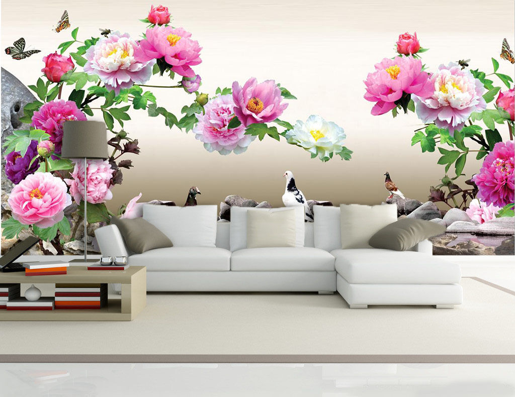 3D Bright Flowers And Birds 377 Wall Paper Wall Print Decal Wall AJ WALLPAPER CA