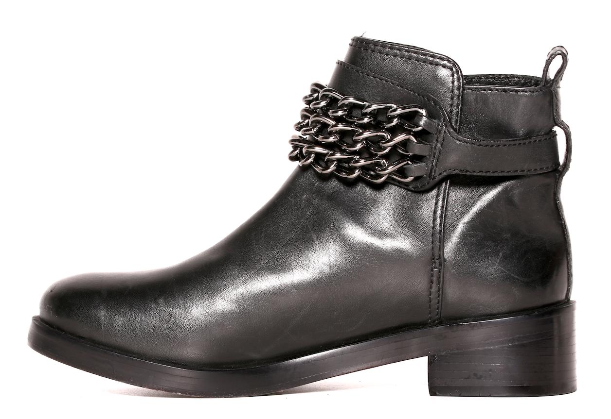 Tory Burch Women's Women's Women's Black Leather Chain Ankle Boots 8603 Size 6M b7e25b