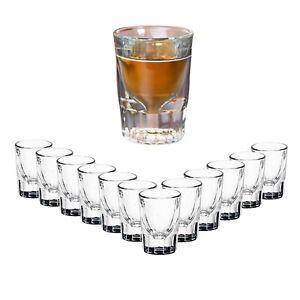 12x-Whiskey-Stamper-Glaeser-Set-44-ml-Schnaps-Glas-Shot-Stamperl-geeicht-klar-Bar