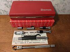 Starrett Tubular Id Inside Micrometer Set No 823a Lot1b