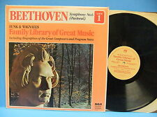 Beethoven Symphony No. 6 Pastoral 1976 Record RCA FW-601 Funk & Wagnalls Family