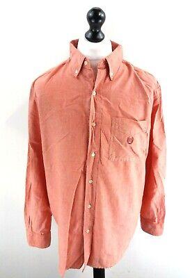 Chaps Ralph Lauren Camicia Da Uomo Uk L Large Us M Arancio Cotone- Prezzo Moderato