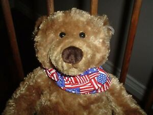 Gund Liberty Wind Up Musical Bear America The beautiful 12 inch 60115 Plush 2003