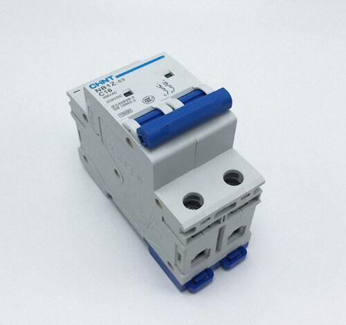 New CHINT AC DC Circuit breaker NB1Z-63 C Type AC400V  DC220V 2 Pole 32Amp