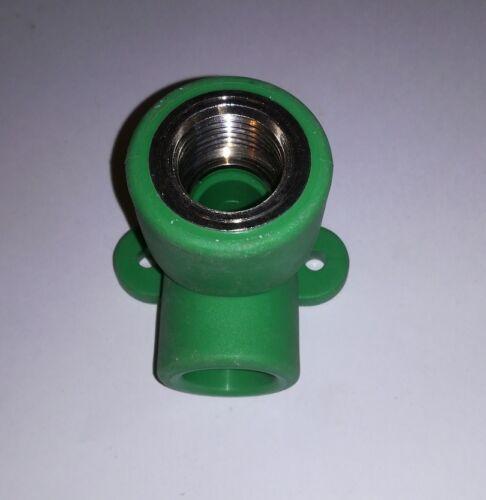 "Aquatherm Fusiotherm Fitting  Anschlusswinkel Winkel Wandscheibe 1//2/"" X 20mm"