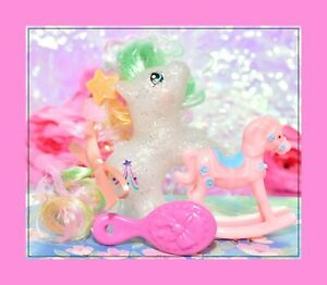 My-Little-Pony-MLP-Vtg-G1-Style-HQG1C-Baby-Glitter-Wishes-Sparkle-Custom