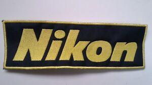 termica 000g Toppa Nikon 17x6cm Patch strappo Cucito FnUTwxXq