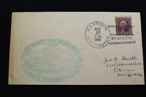 Navale-Cover-1933-SHIP-039-S-Annullo-Postale-Welcome-To-Tacoma-U-F-Constitution