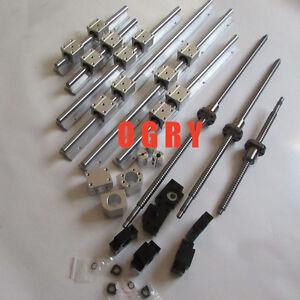 ballscrews SFU1605 Length 300/800/1100 +3 set SBR rail+3sets BK/BF12+3 couplings