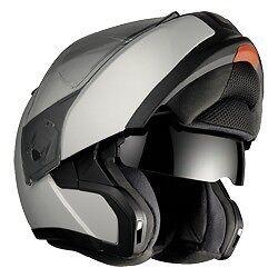 bmw system 6 evo motorcycle flip front helmet titanium. Black Bedroom Furniture Sets. Home Design Ideas