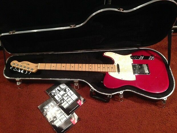 1995 Fender Telecaster USA Translucent Crimson Burst American Tele Guitar + Case