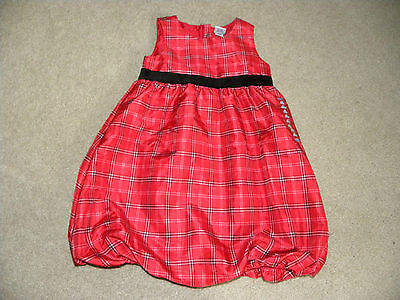 Old Navy Infant Girls Toddler Red Plaid Bubble dress 4T NWT