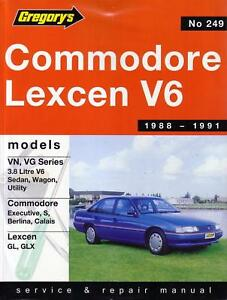gregorys repair manual holden commodore vn vg lexcen v6 ebay rh ebay com gregorys workshop manuals free downloads gregorys repair manuals australia
