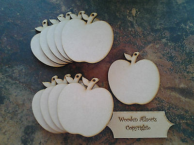 10x 4mm MDF Wooden Apple Shapes approx 90(h)x85mm. Craft Embellishments