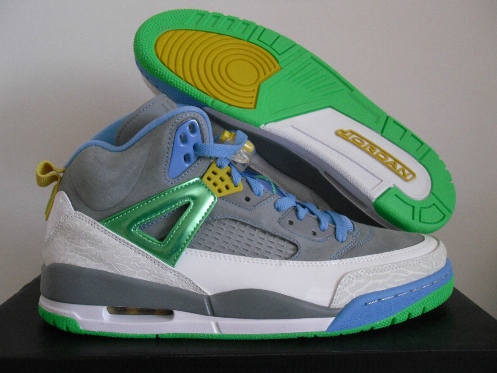 NIKE AIR JORDAN SPIZIKE STEALTH GREY-GREEN-blueE SZ 13 EASTER  [315371-056]