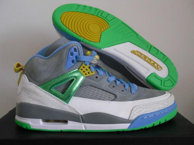a6fcfa40845f4c Nike Air Jordan Spizike Easter 315371-056 Stealth Gray Green   Blue Sz 11