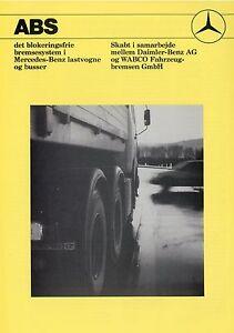 Mercedes-Lkw-ABS-Prospekt-DK-1991-dansk-brochure-Broschuere-Lastwagen-truck