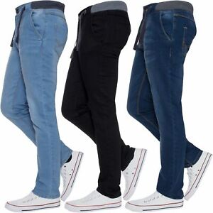 Jean-Garcon-Taille-Elastique-Enfants-Skinny-Stretch-School-Denim-Pantalon-Pantalon