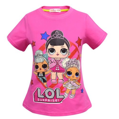 Lol Surprise Dolls Games Kids Girls T-shirt Tops Costume T Shirts Clothes 3-10Y