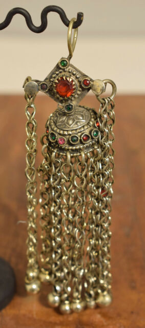 Beads Silver Earring Kuchi Swat Silver Single Middle Eastern Kuchi