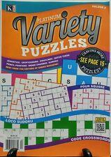 Kappa Platinum Variety Puzzles #3 Loco Sudoku Crosswords Battleship FREE SHIPPIN