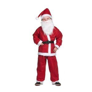 Vestito Vestitino Bambini Babbo Natale Bambini da 6 a 9 anni