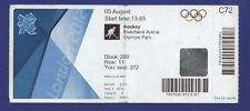 Orig.Ticket  Olympic Games LONDON 2012  -  HOCKEY    SOUTH KOREA - INDIA  !!