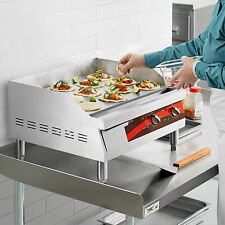 24 Stainless Steel Electric Restaurant Countertop Flat Top Griddle 208240 Volt