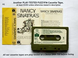 NANCY-SINATRA-Greatest-Hits-UK-CASSETTE-ALBUM-TESTED-ZCPSL-1018-Paper-labels