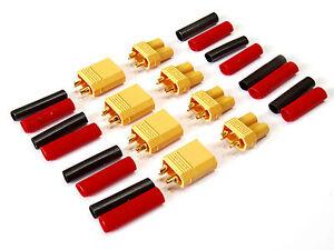 4-Paar-8-Stueck-XT30-Stecker-Buchse-Lipo-Akku-RC-bis-30A-inkl-Schrumpfschlauch