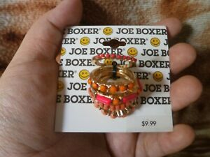 CLOSEOUT-SALE-From-USA-9-99-Joe-Boxer-Pink-amp-Orange-Stackable-Rings-3