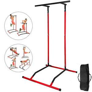 Portable-Pull-Up-Dip-Station-Gym-Bar-Power-Tower-Dip-Gym-w-bag-Training-Machine