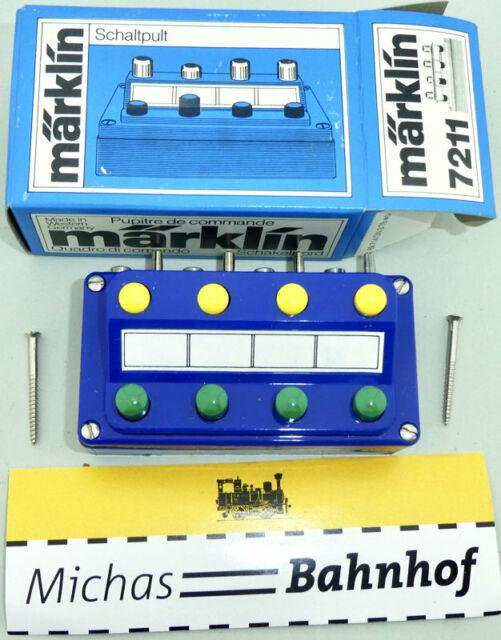 Märklin 7211 Stellpult ein und Ausschalter M-Gleis K-Gleis C-Gleis Z N H0 OVP å